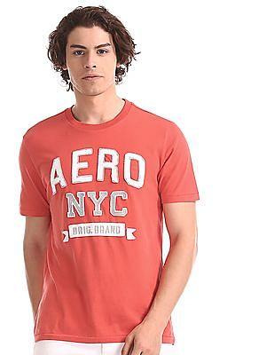 Aeropostale Red Brand Applique Cotton T-Shirt