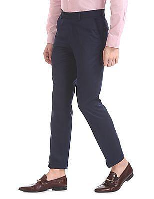 Arrow Slim Fit Patterned Trousers