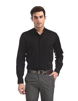 Arrow Tonal Panel Detachable Collar Shirt