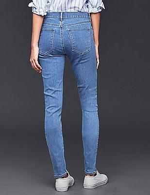 GAP Women Blue Stretch 1969 True Skinny Jeans