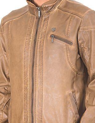 Arrow Sports Textured Biker Jacket
