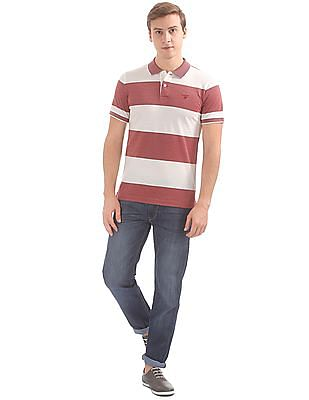 Gant 4-Col Oxford Stripe Short Sleeve Rugger Polo