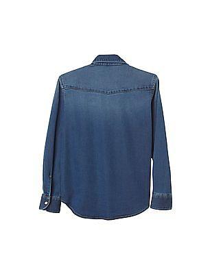GAP Boys Super Soft Denim Shirt
