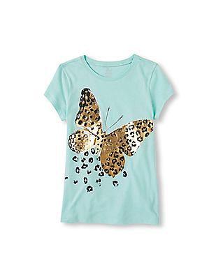 The Children's Place Girls Leopard Print Graphic T-Shirt