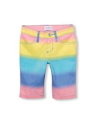 The Children's Place Girls Rainbow Woven Skimmer Short