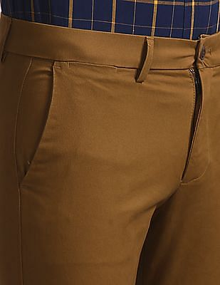 GAP Brown Modern Khakis In Skinny Fit With GapFlex