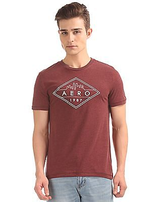 Aeropostale Brand Print Round Neck T-Shirt