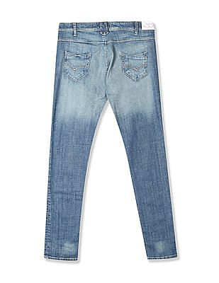 Flying Machine Women Blue Twiggy Super Skinny Fit Low Waist Jeans