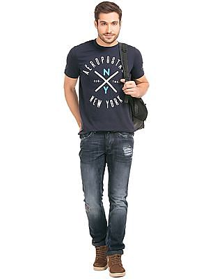Aeropostale Embroidered Crew Neck T-Shirt