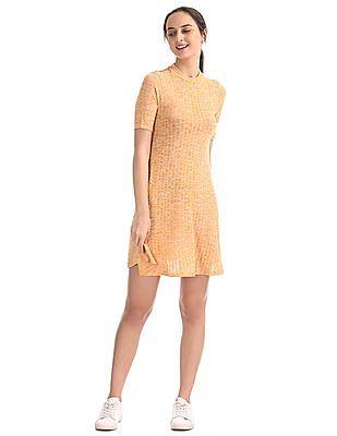 SUGR Heathered Skater Dress