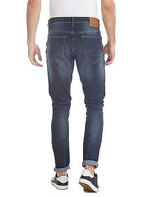 Aeropostale Blue Super Skinny Fit Distressed Jeans
