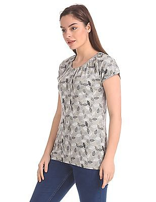 Cherokee Printed Elasticized Top