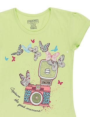 Cherokee Girls Printed T-Shirt