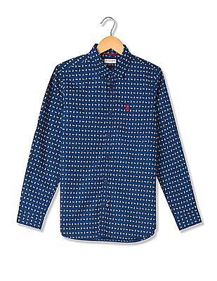 U.S. Polo Assn. Kids Boys Regular Fit Paisley Print Shirt