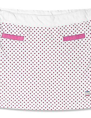 U.S. Polo Assn. Kids Girls Polka Dot Print Pencil Skirt
