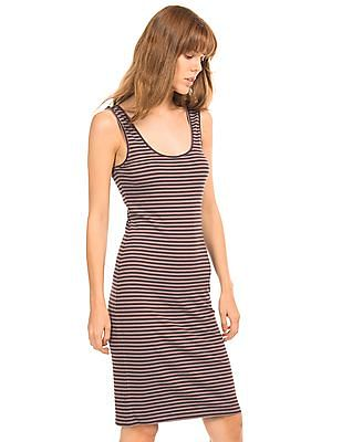 Aeropostale Striped Ribbed Bodycon Dress