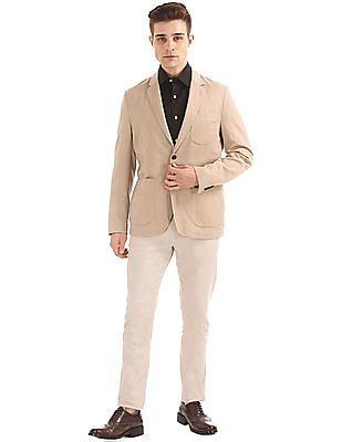 U.S. Polo Assn. Single Breasted Cotton Linen Blazer
