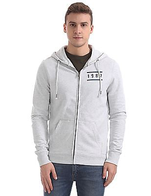 Aeropostale Rear Print Hooded Sweatshirt
