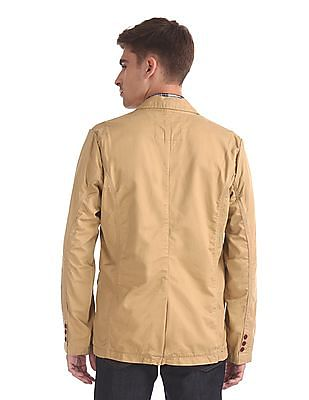Flying Machine Solid Twill Coat