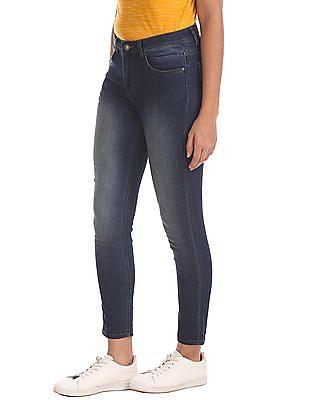 Flying Machine Women Skinny Fit Stone Wash Jeans