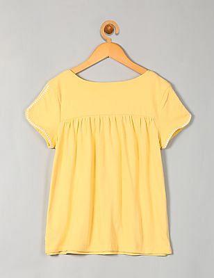 GAP Girls Embroidery Short Sleeve Top