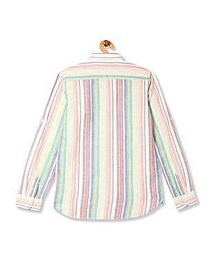 U.S. Polo Assn. Kids Boys Button Down Stripe Shirt