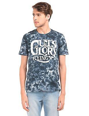 Flying Machine Printed Tie Dye T-Shirt