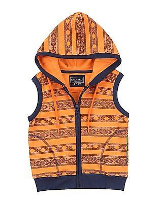 Cherokee Boys Hooded Sleeveless Jacket
