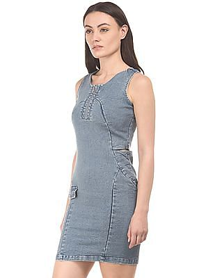 Elle Cutout Denim Mini Dress