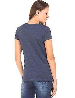 Cherokee Flock Print Heathered T-Shirt
