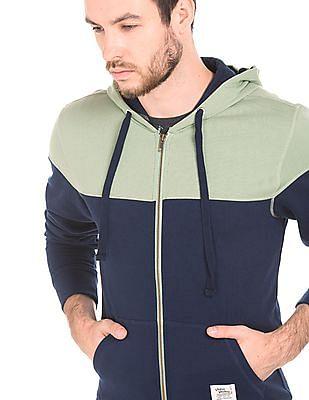 Flying Machine Regular Fit Colour Block Sweatshirt