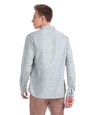 Cherokee Button Down Heathered Shirt