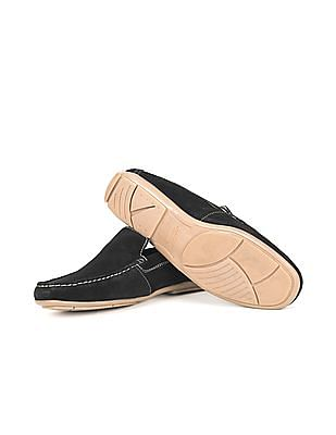 Arrow Sports Contrast Stitch Suede Loafers