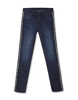 FM Boys Blue Boys Taped Skinny Fit Jeans