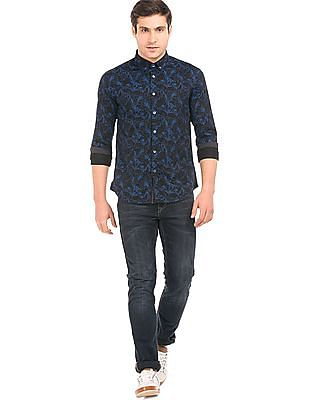 Flying Machine Floral Print Slim Fit Shirt