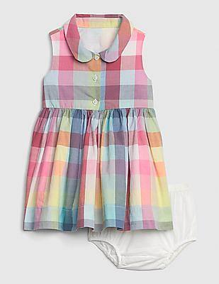 GAP Baby Plaid Shirt Dress