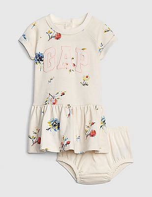 GAP Baby Logo Floral Fit And Flare Dress