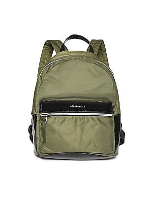 Aeropostale Contrast Pleather Trim Backpack