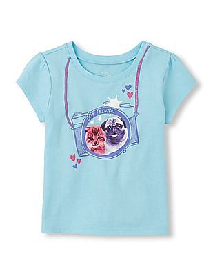The Children's Place Baby Girl Short Sleeve Printed T-Shirt