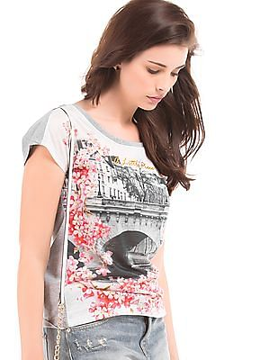 Elle Graphic Print Regular Fit Top