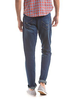 U.S. Polo Assn. Denim Co. Distressed Comfort Slim Fit Jeans