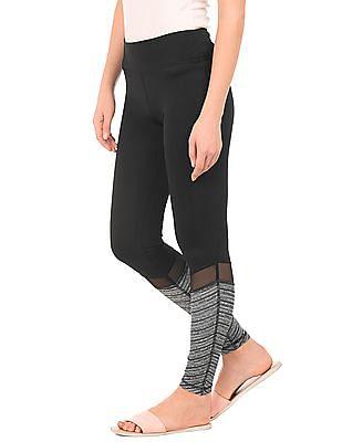 Aeropostale Mesh Panel Skinny Fit Leggings