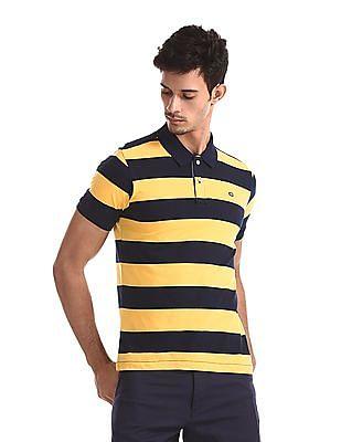 Arrow Sports Regular Fit Striped Polo Shirt