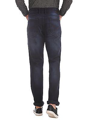 Flying Machine Blue Slim Tapered Dark Wash Jeans