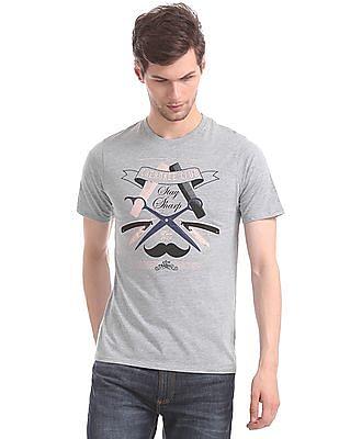 Cherokee Grey Crew Neck Brand Print T-Shirt