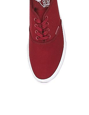 Flying Machine Lace Up Canvas Sneakers