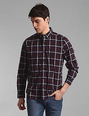 GAP Red Check Cotton Stretch Shirt