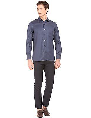 Arrow French Placket Jacquard Shirt