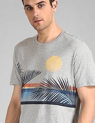 GAP Heathered Leaf Print T-Shirt