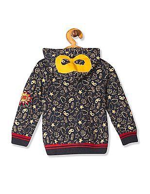 Donuts Boys Hooded Zip Up Sweatshirt